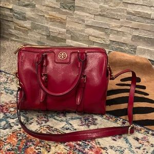 Tory Burch bright red bag!